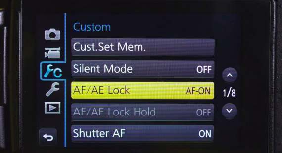 AFAE focus lock