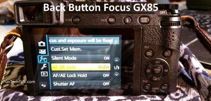 Back Button Autofocus AF Panasonic GX85 GX80