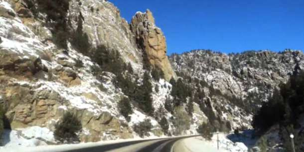 Big Thompson Canyon Winter