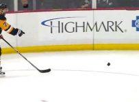 Camera Lens on Ice Hockey