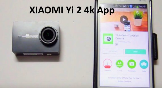 Connect to XIAOMI Yi 2 4k Camera App