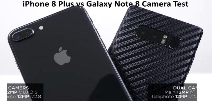 Galaxy Note 8 vs iPhone 8 Plus Camera Test video
