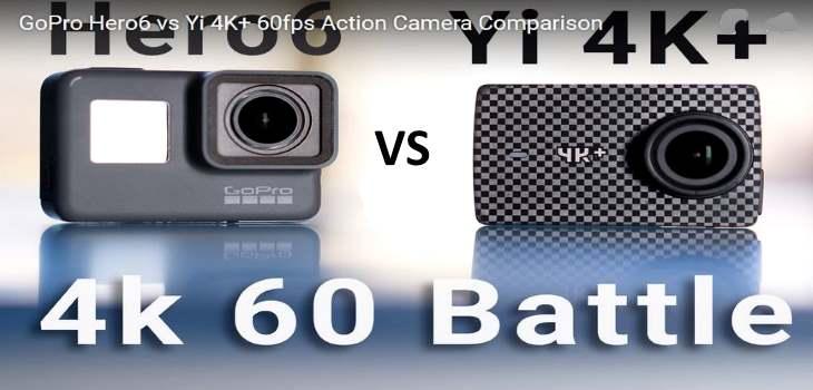 GoPro Hero6 vs Yi 4K+ vs Sony X3000 60fps