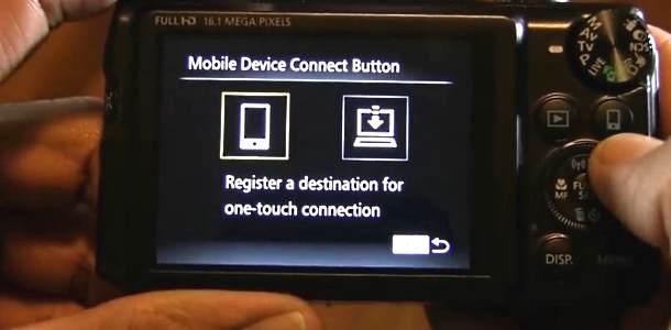 NFC set up on Canon PowerShot SX700 HS