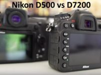 Nikon D500 vs D7200 breakdown Comparison