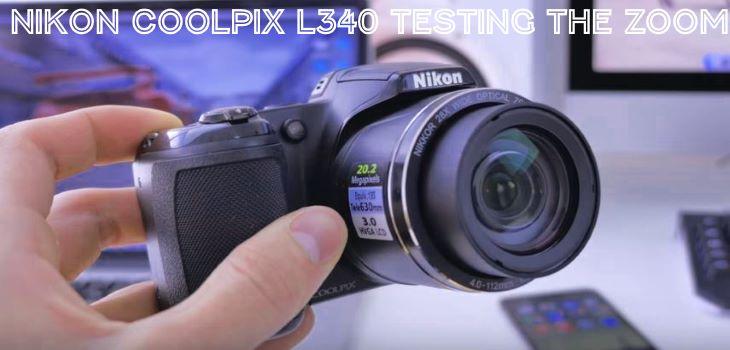Nikon L340 Zoom Test review Video