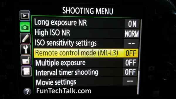 Nikon ML-L3 Remote Help Info 1