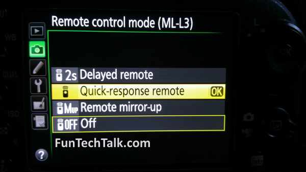 Nikon ML-L3 Remote Help Info Problems 2