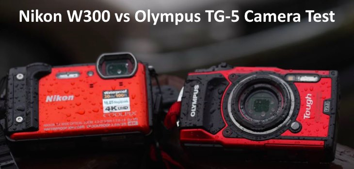 Nikon W300 vs. Olympus TG-5 test review video