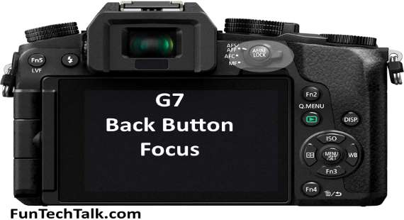 Panasonic G7 back button focus