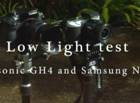 Panasonic GH4 vs Samsung NX500 low light video