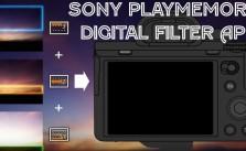 PlayMemories Camera App Digital Filter
