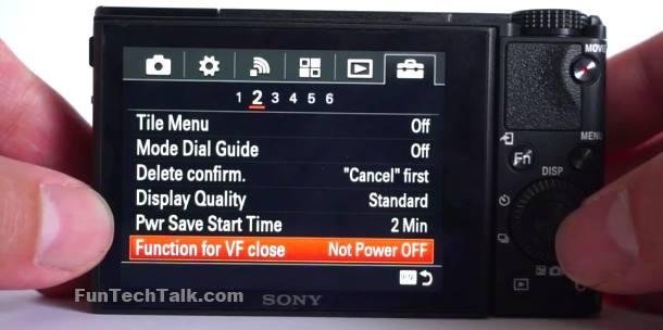 RX100 iii stop camera shutdown