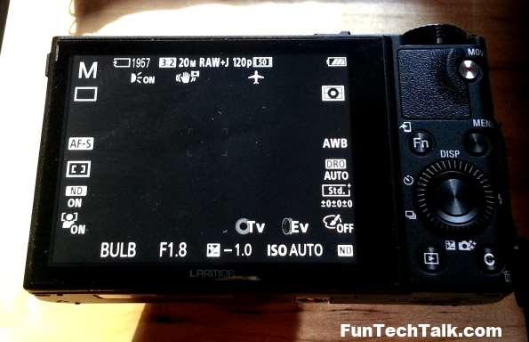 RX100III Bulb Mode