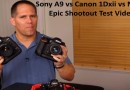 Sony A9 vs Canon 1Dxii vs Nikon D5 test video