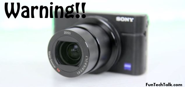 Sony DSC-RX100M3 warning messages