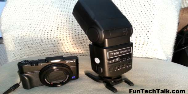 Sony RX100MIII external flash