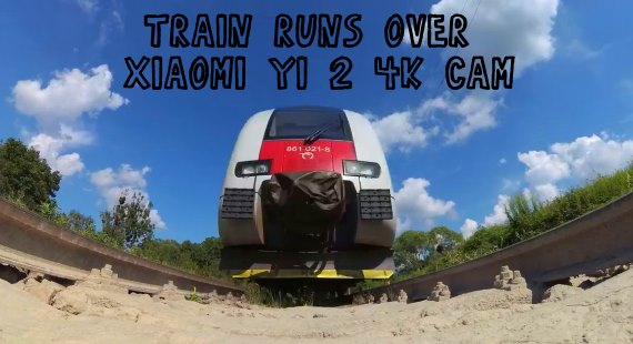 Xiaomi Yi 2 4K Action Camera train video test