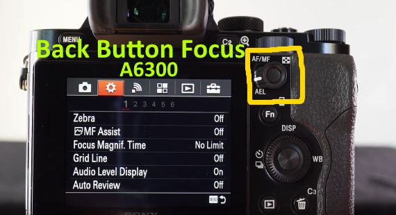 back button focus on Sony A6300
