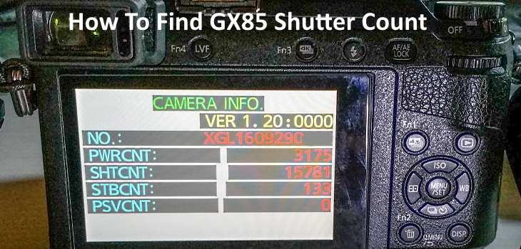 find gx85 shutter count