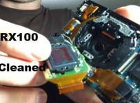 inside Sony rx100 camera clean dust