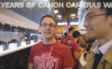 30 years of Canon cameras wall Lok