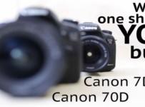 Canon 7D Mark II vs 70D review video