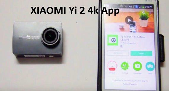 Connect to XIAOMI Yi 2 4k Camera App