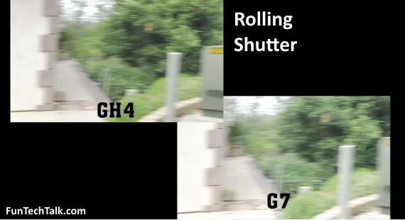 GH4 vs G7 rolling shutter video Panasonic