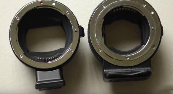 Nikon F to Sony E Adapters