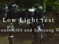 Panasonic GH4 vs Samsung NX500 low light video