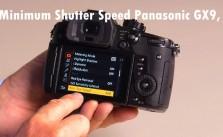 Set Minimum Shutter Speed Settings Panasonic GX9