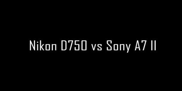 Sony A7 II vs Nikon D750 video test