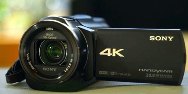 Sony AX33 camcorder