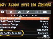 Sony a6300 ISO auto minimum setting
